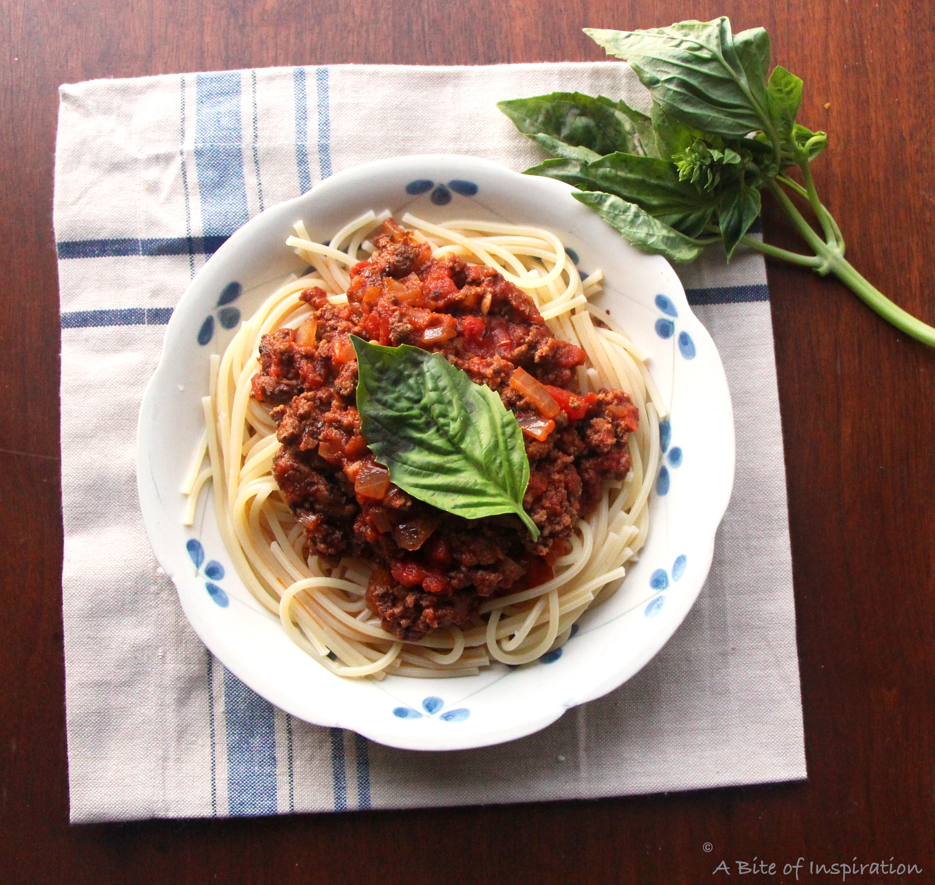 The Easiest Tastiest Meat Sauce Ever A Bite Of Inspiration Food Blog