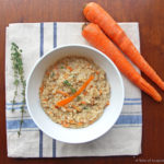 Savory Carrot and Thyme Oatmeal