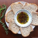 Olive Oil and Fresh Herb Sauce served with bread for dipping